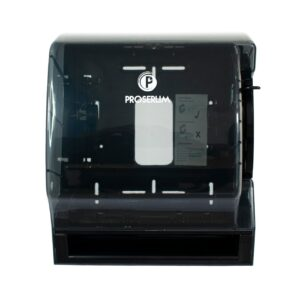 DISPENSADOR DE PAPEL TOALLA ROLL NEGRO